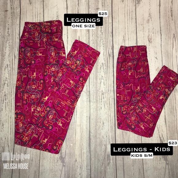 e27736ba41d24a LuLaRoe Pants | Leggings Set Size Os Sm | Poshmark
